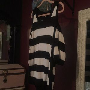 Vince Camuto Striped Off the Shoulder Sweater